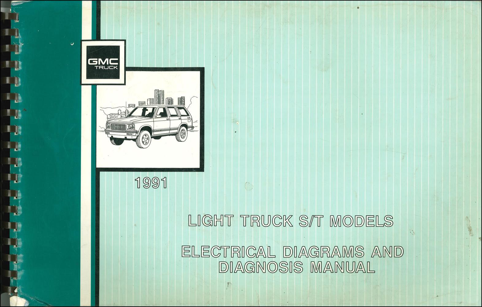 1991 Gmc S15 Sonoma Pickup Jimmy Wiring Diagram Manual Original