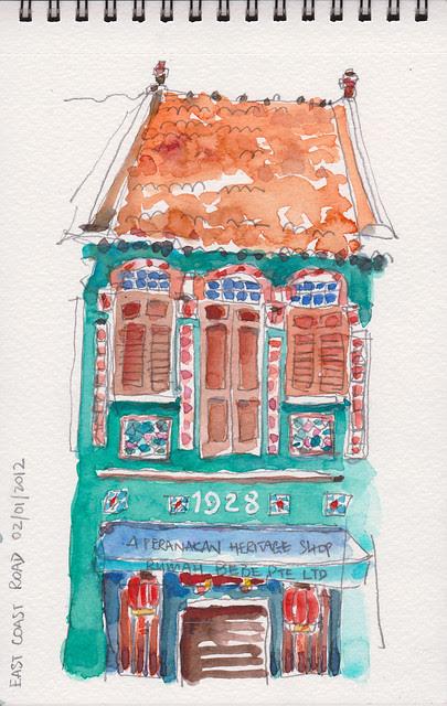 Peranakan shophouse @ Katong