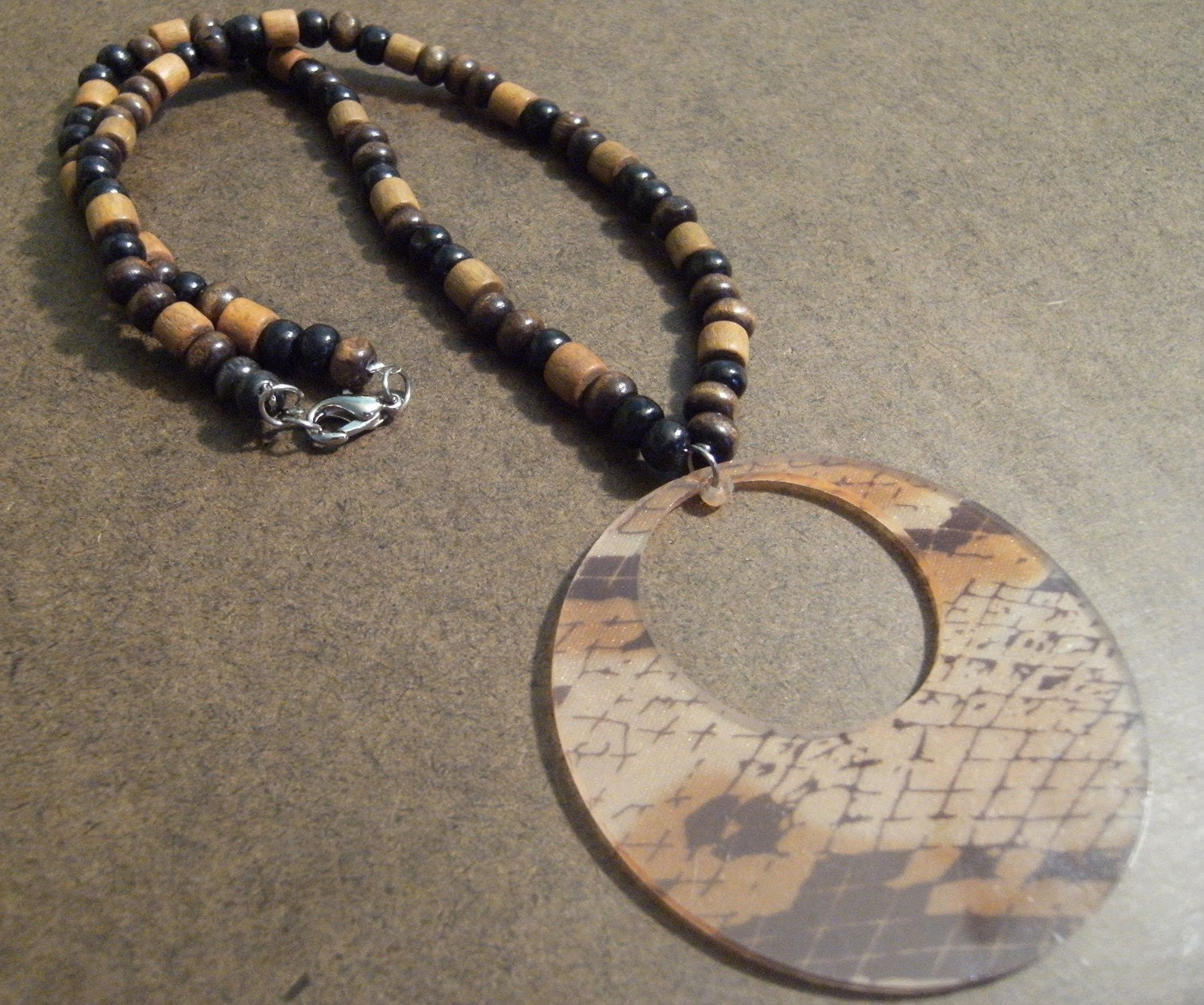 Python Wooden Beaded necklace