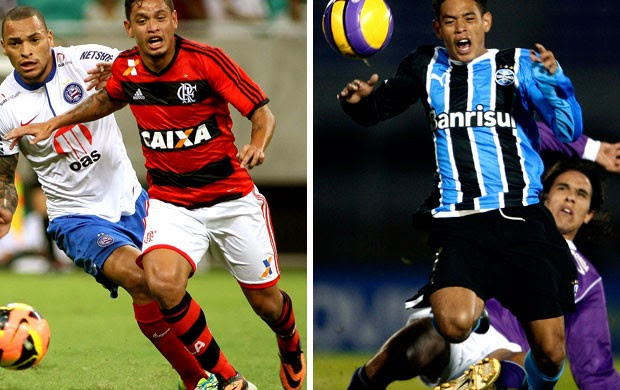 MONTAGEM - Carlos Eduardo flamengo e Grêmio (Foto: Editoria de arte)