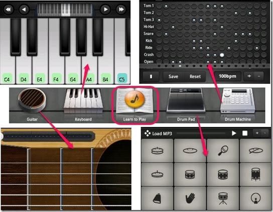 aplikasi piano, gitar, drum android gratis