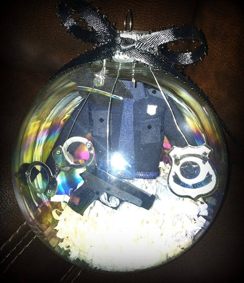 Police Christmas Ornaments.Blue Line Life Living Loving And Thriving As Law