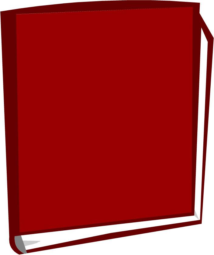 Libro Dibujo A Color Libro Abierto Dibujo Animado Rojo Aislado