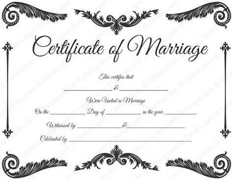 Royal Corner Marriage Certificate Format   Printable