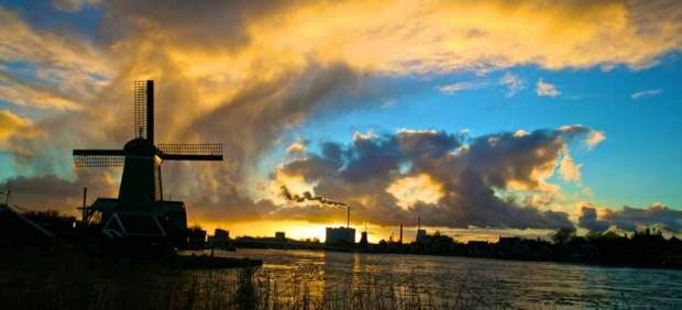Zaanstad, de paseo por los molinos de Holanda