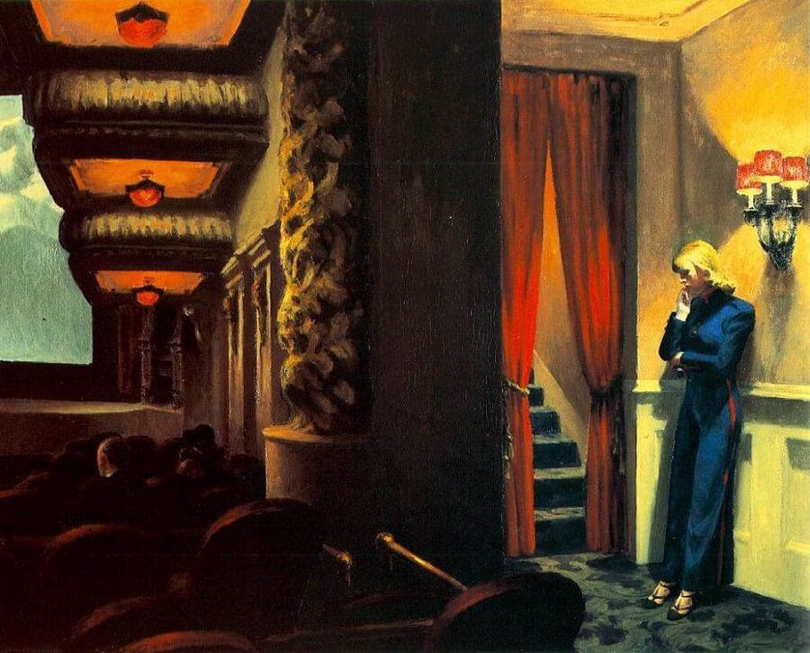 Edward Hopper - A movie theater in New York...