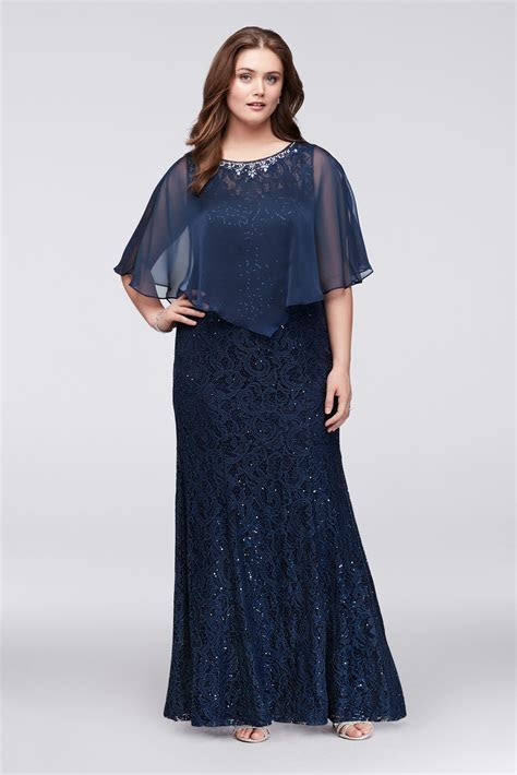 Plus Size 3523DW Pattern Fitted Lace Mother of the Bride