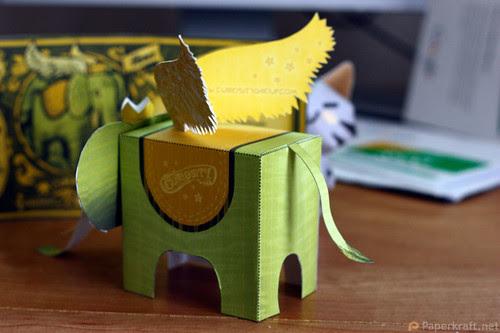 Winged Elephant Papercraft 06