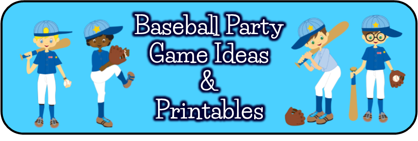 Baseball Birthday Party Game Ideas Printables