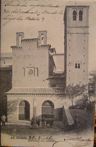 Iglesia de Santiago del Arrabal a inicios del siglo XX. Foto Lacoste