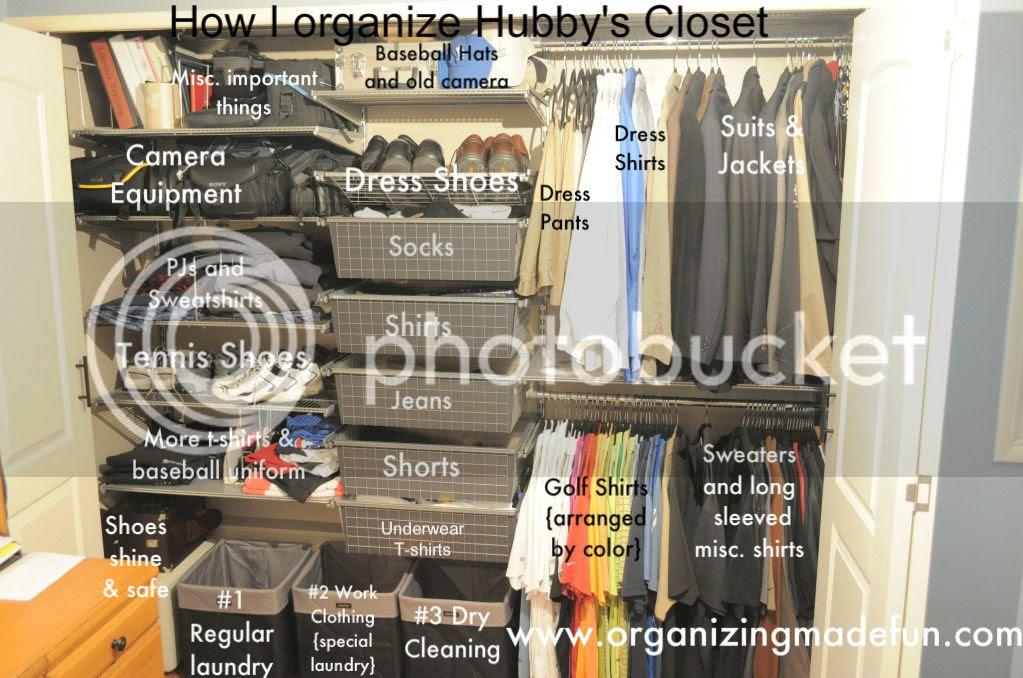 Husband's Closet of Organizing Made Fun's home tour