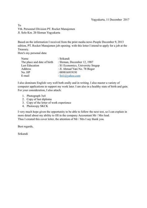 Surat Lamaran Dalam Bahasa Inggris Dan Artinya Contoh Seputar Surat