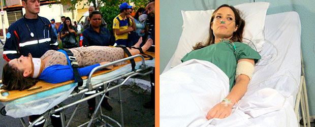 Professora Helena sofre grave acidente de carro e fica desacordada
