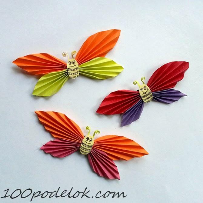 бабочка из бумаги (1)
