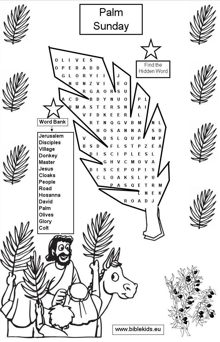 Palm Sunday coloring pages   Palm Sunday   棕枝主日
