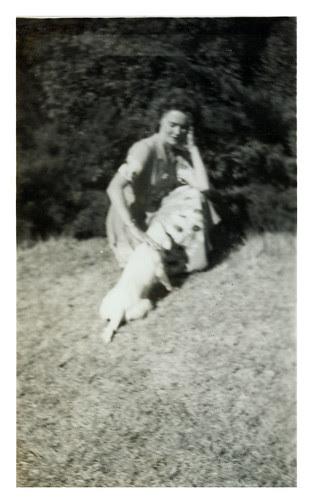 Gloria and dog