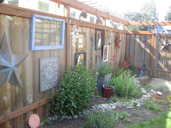 Back Yard Hanging Fence Art Ideas