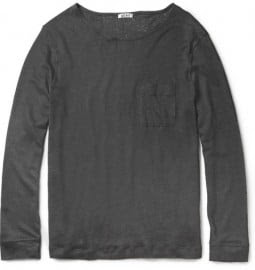 Acne Granville Linen Long-sleeved T-shirt