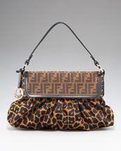 Fendi Jaguar-Print Shoulder Bag