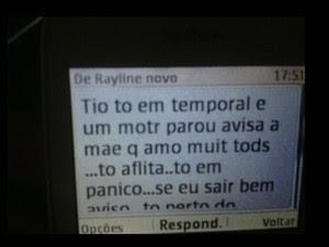 Mulher envia mensagem para tio antes de avião desaparecer no Pará (Foto: Reprodução GloboNews)