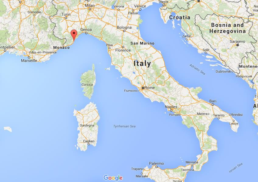 Where is Alassio on map Italy