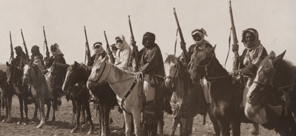 The 1916-1918 Arab Revolt was often carried out by mounted Arab tribesmen, who knew the land intimately and were excellent marksmen (Library of Congress).