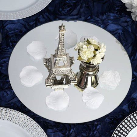 "Efavormart 10"" Round Glass Mirror Wedding Party Table"