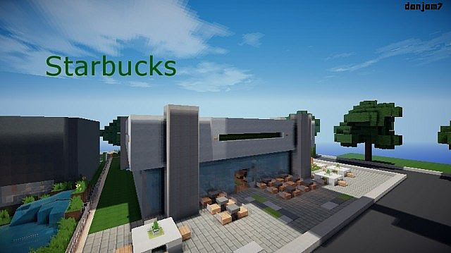 Starbucks |TAC| a modern cafe Minecraft Project
