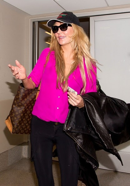 Brandi Glanville is seen at LAX airport.