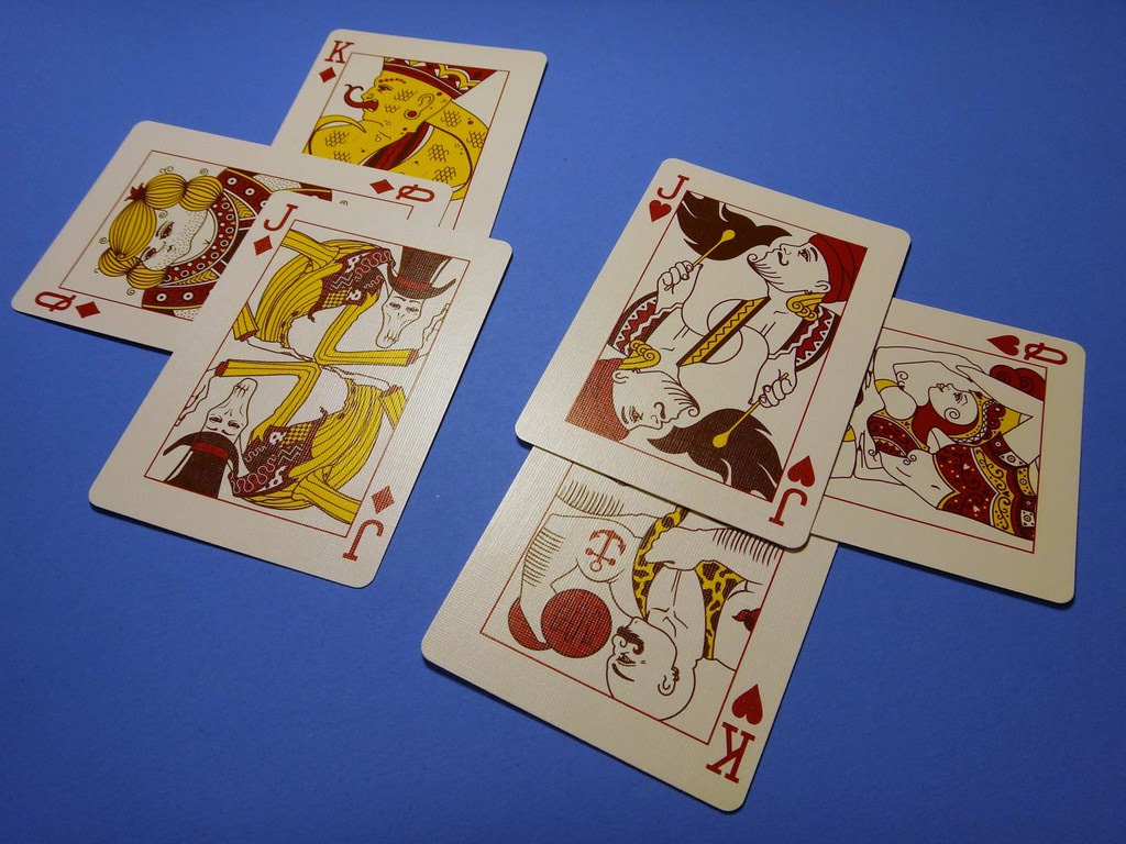 Bicycle Sideshow Freaks circus playing cards