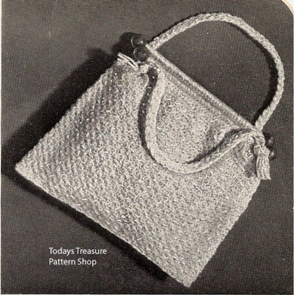 Vintage 1950's Crocheted Utility Bag Pattern