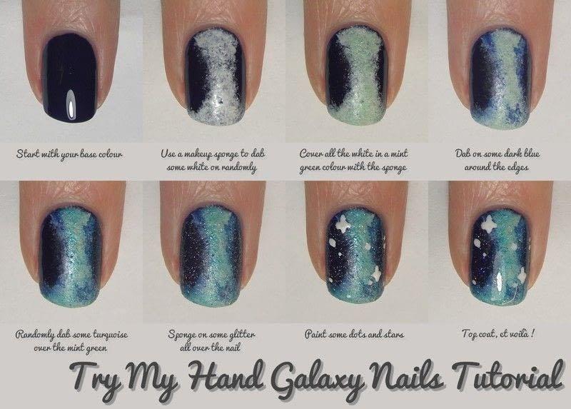 Nail Art Tutorial Galaxy Nails How To Paint Patterned Nail Art
