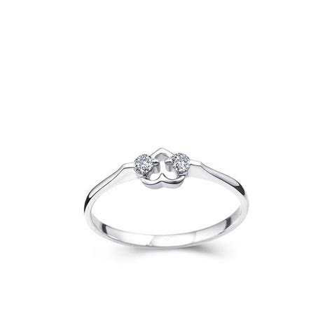 Hearts Diamond Promise Ring on 10k White Gold   JeenJewels