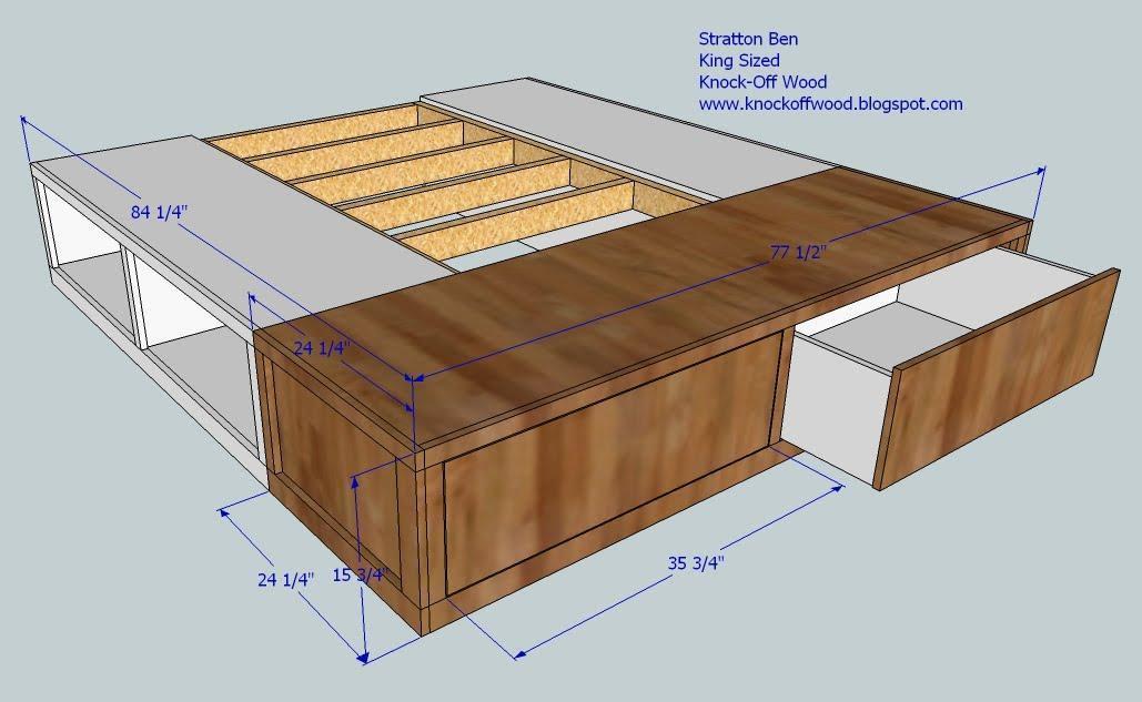 Download Woodworking Plans Diy King Size Platform Storage Bed