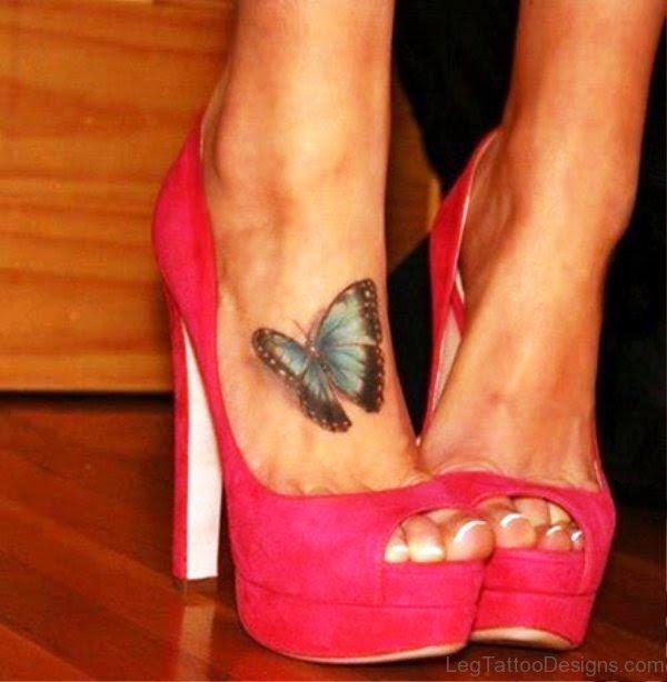 56 Stupendous Butterfly Tattoo On Foot