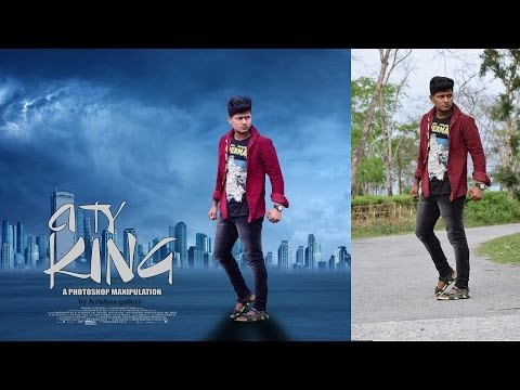 CITY KING movies poster photoshop | PHOTOSHOP TUTORIAL