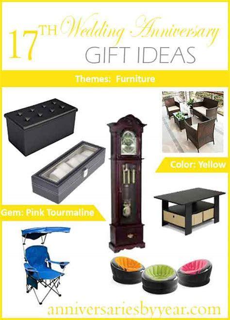 17th Anniversary   Seventeenth Wedding Anniversary Gift Ideas
