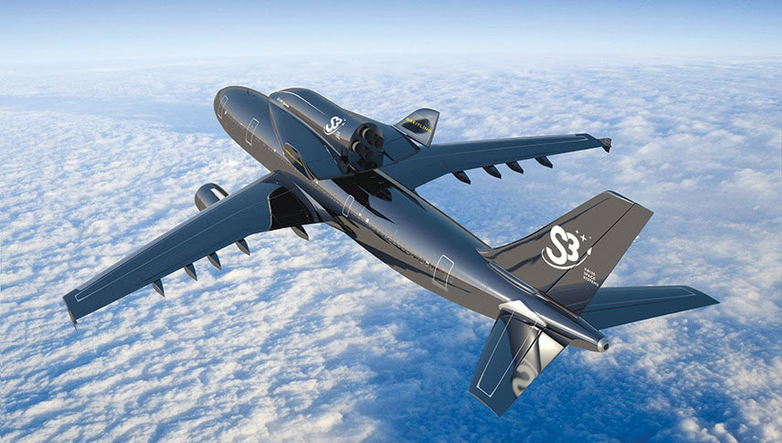 S3 plans to launch SOAR from an Airbus A300 jet. Credit: S3 artist's concept