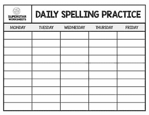 25+ Daily Spelling Practice Worksheets