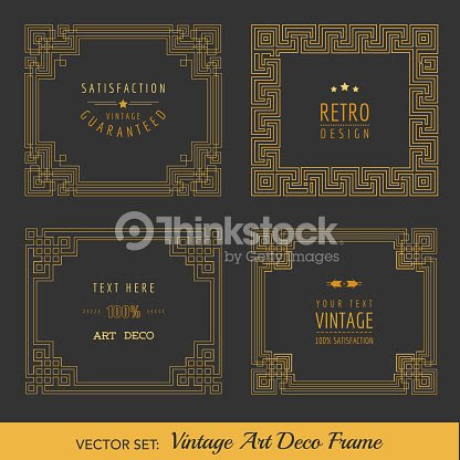 Art Deco Vintage Frames And Design Elements Vector Art Thinkstock