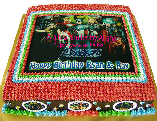 Birthday Cake Edible Image Avengers