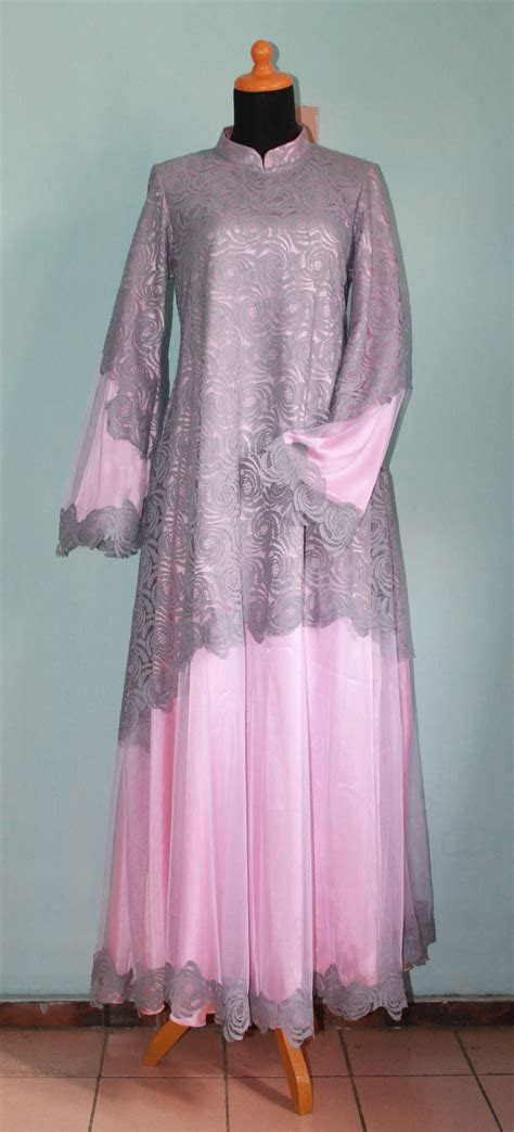 contoh model baju gamis brokat  contohbusanamuslimcom