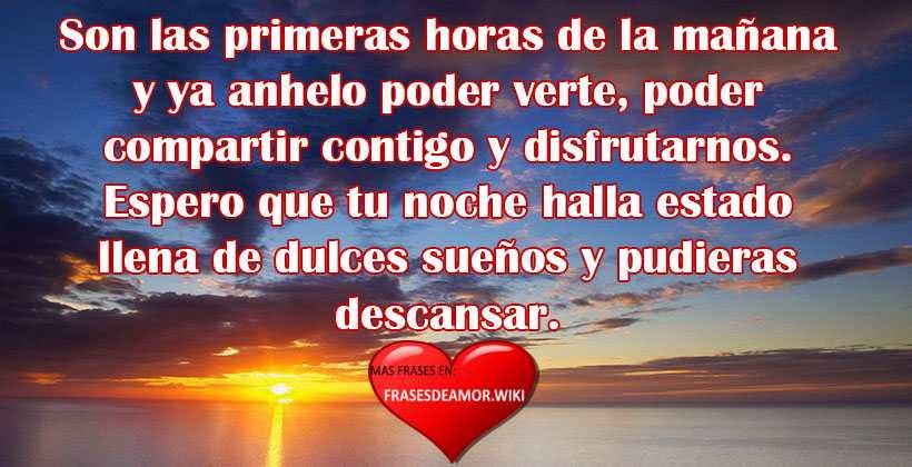 Frases Mensajes De Buenos Dias Para Mi Amor Bonitos Cortos