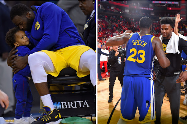 a0f8ee6cf18 Draymond Green Provides Wise Words to Flopping Son Like He Did for Jordan  Bell After Missed Dunk