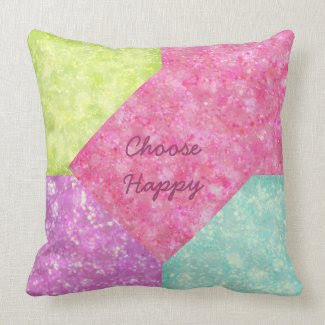 Choose Happy Pastels Throw Pillows