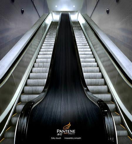 Pantene escalator ad