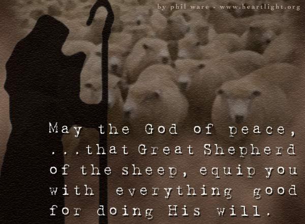 Inspirational illustration of Hebrews 13:20-21