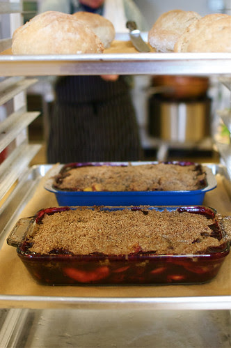 bread and crumble, ready to go out