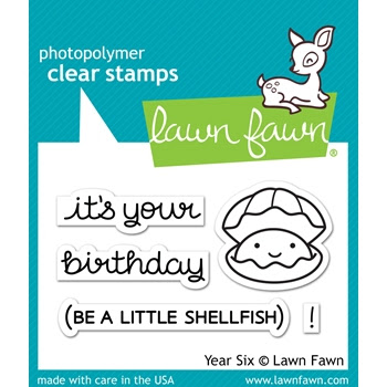 Lawn Fawn YEAR SIX Clear Stamps LF1050