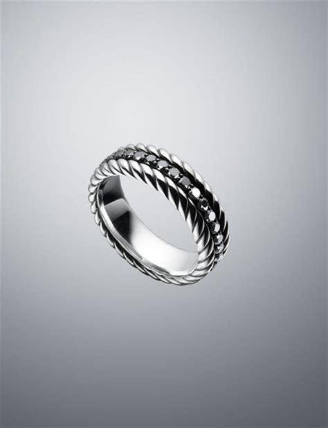 david yurman men rings black diamond band ring mm